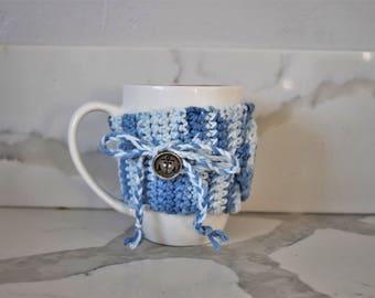 Sea Breeze Mug Cozy with Anchor Button