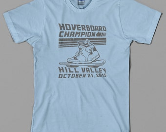 Hoverboard Champion T Shirt  -  back to the future, marty mcfly, hill valley hover board, 80s film - Graphic Tee, All Sizes & Colors