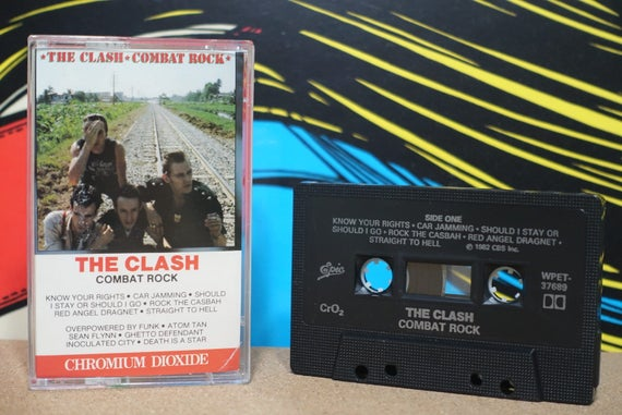Combat Rock (Rare Canadian Pressing) by The Clash Vintage Cassette Tape
