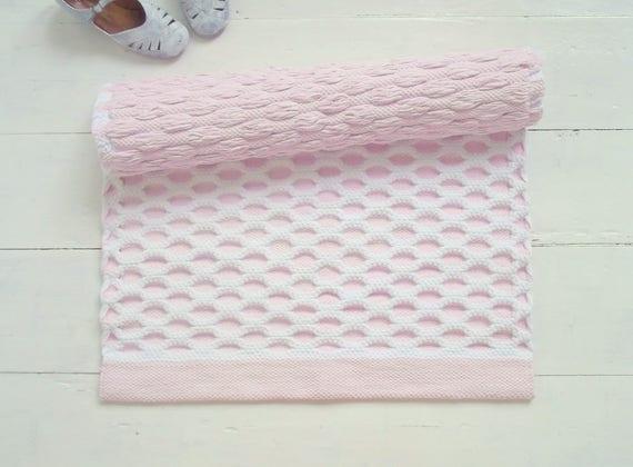 Weiß und rosa Kinderzimmer Teppich Baby-Mädchen-Teppich