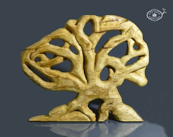 Our Life....zen sculpture ,woodcarving tree