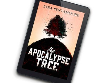 Red Tree—Premade Ebook Cover for Indie Authors Self-Publishing Fantasy Novels about the Environment, Nature, Destruction, and the Apocalypse