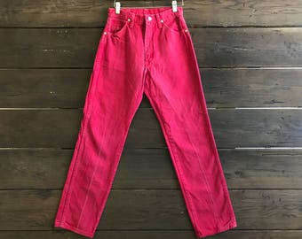Vintage 80s Red High Waist Wranglers