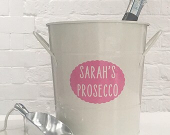 Personalised Ice Bucket / Wine Cooler / Champagne / Prosecco / Beer