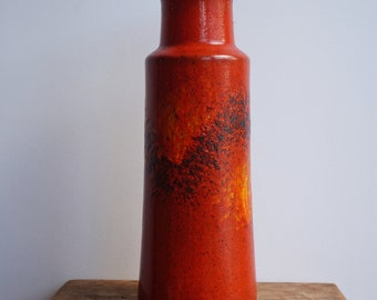 West German Vase Orange Red Sienna 205-32