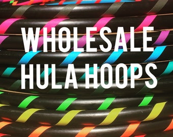 WHOLESALE 10 BUDGET Dance & Exercise Hula Hoop COLLAPSIBLE or Full Size Hoola Hoop Bulk Wedding party favors weighted class