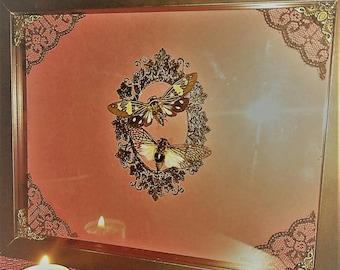 Framed Moth Art
