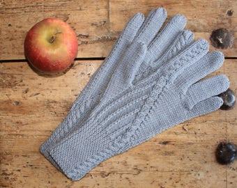 Merino Wool Gloves - Grey