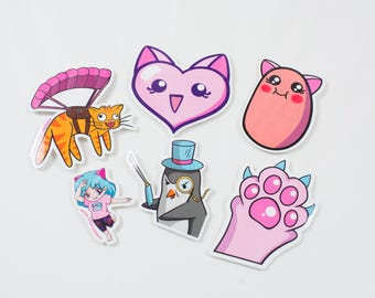 Fiercekittenz Twitch Emote Sticker Collection