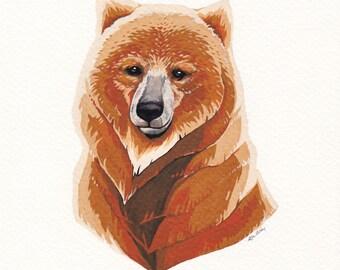 Bear - original gouache artwork