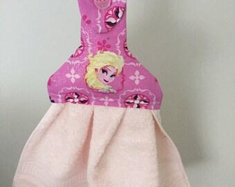 Frozen on Pink  Hand Towel