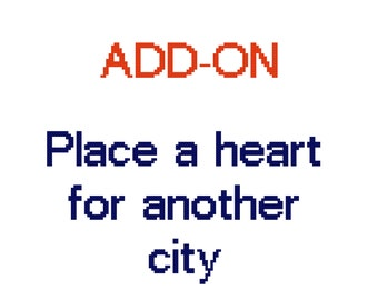 ADD-ON -> customize our map cross stitch patterns. Move a heart for another city, Add text, wedding dates or connect two hearts