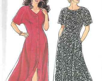 Style 2301 Misses Paneled Dresses Pattern, Flared Skirt, Dolman Sleeves, Size 18-28, UNCUT