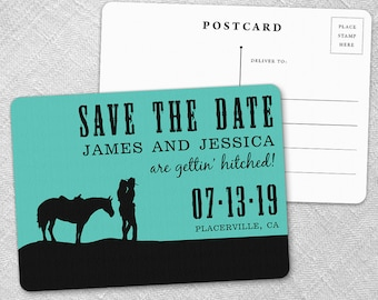 Hitched - Postcard - Save-the-Date