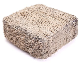 Moroccan Pouf, Floor Cushion, Berber Kilim Pouf Ottoman, Floor Pillow, Foot Stool, Refashioned from a Vintage Berber Rug. PVR009