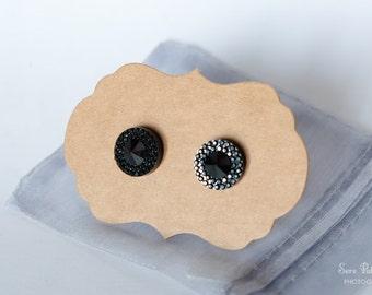 Vintage style Black Diamond Earrings
