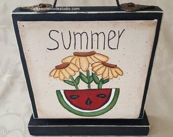 Summer Watermelon & Sunflowers Block of the Month SET