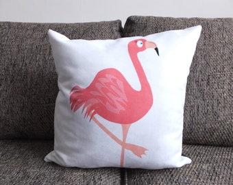 Flamingo - Vegan Suede Cushion