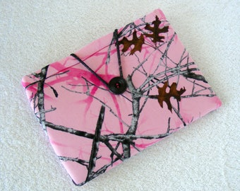 """Pink Truetimber, IPad Mini Cover, Kindle Fire Cover, Kindle Fire HD Cover, IPad Mini Case, Kindle Fire Case, Small Tablet Cover, 8"""" x 5 1/2"""""""