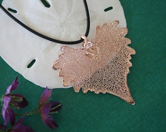 Cottonwood Rose Gold Leaf, Real Leaf, Cottonwood, Cottonwood Leaf, Pink Gold, RG36