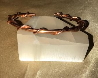 Twisted Copper Bangle