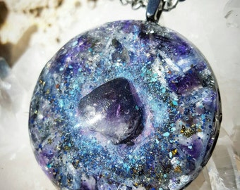 "2""Orgone Pendant -  Heart of the Pleiades - Meditation Tool - Ion Therapy -  Free ShippingUS"