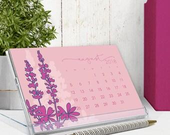 2018 calendar - 2018 desk calendar - botanical art illustrations - cd calendar - flower calendar - calender - free shipping to U.S.
