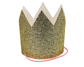 Gold Glitter Party Crowns, Hen Party Crowns, Birthday Party Hats, Christmas Hats, Fun Photo Props Ideas, Girls Birthday Crowns, 8 Pack