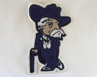 "Colonel Reb Chenille Patch 9""x5"" - Varsity Letterman Patch"