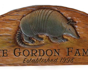 Armadillo Personalized Wall Plaque and Door topper