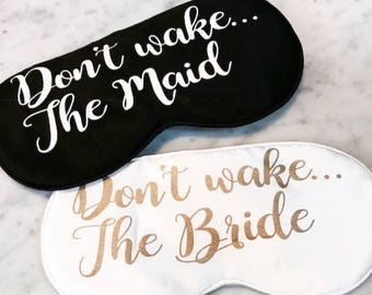 Bride and Bridesmaid eye masks