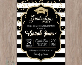 Graduation Party Invitation, graduation invitation, college graduation invitation, graduation party invites high school graduation printable