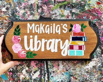 Large Library Sign