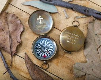 Baptism Gift, Baptism, Baptism Day Gift, Confirmation, Christening Gifts, Engraved Compass, Personalized Compass, Confirmation Gift, Groom