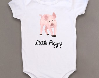 Cute Baby bodysuit, Unique baby clothes, Pig baby clothes, Piggy, Oink, Oinker, Farm animal, Farmer