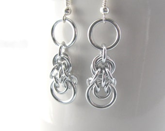 ON SALE Morgaine Chainmaille Earrings - Avalon Collection