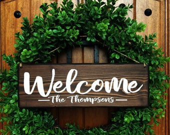 Welcome Sign | Welcome Door Sign | Front Door Sign | Personalized Wedding  Sign | Personalized