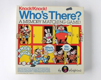Colorforms Knock! Knock! Who's There? Memory Matching Card Game 1982 No. 7921 COMPLETE