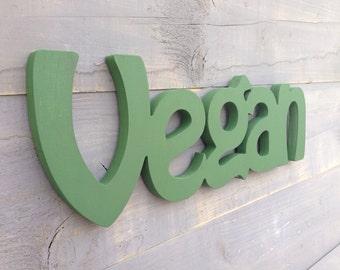 Vegan - Vegan Sign - Vegan Kitchen Sign - Wood Sign Vegan - Kitchen Sign - Restaurant Sign - Restaurant Decor