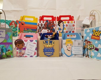 Party bag and boxes