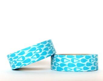 Blue Raindrops Washi Tape