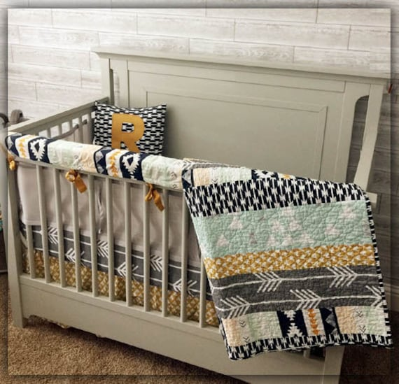 Crib Bedding Set Nursery Bedding Woodland Baby Bedding Aztec