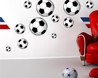 Soccer Ball Wall Art Sticker, Soccer Ball Wall Design, Soccer Ball Wall Decal, Soccerl Wall Decor, Peel and Stick Soccer, Soccer Mural, d97
