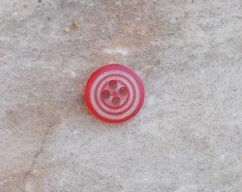 Spiral clear button 4 hole 11mm Red