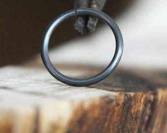 Black Nose Ring Hoop | Niobium Cartilage Earring | Minimal Nose Jewelry | Nickel-free Body Jewelry