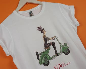 Women's T-shirt with my Vintage scooter girl