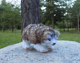 "Hedgehog, Made to order, doll, posable doll, animal doll, art doll, woodland animal, OOAK, 8"""