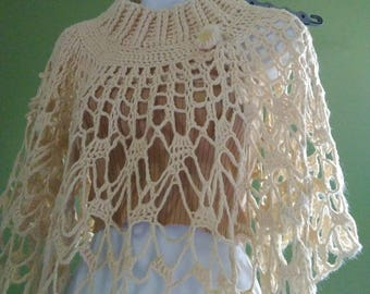 knit wear Womens poncho, wrap poncho,  poncho,elegant  knitwear, beige cover