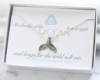 Mermaid Tail Necklace • Gift For Mermaid Lover • Ocean Lover • Sea Maiden • Mermaid Scales • Nautical Jewelry • Beach Jewelry • Ocean Dreams