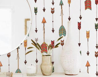 Indian shoots Wallpaper - Repositionable - Wall covering - Wall decor - Peel and stick - Wall decal - Wallpaper - Removable wallpaper - 84